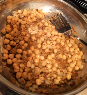 added spices and chickpeas