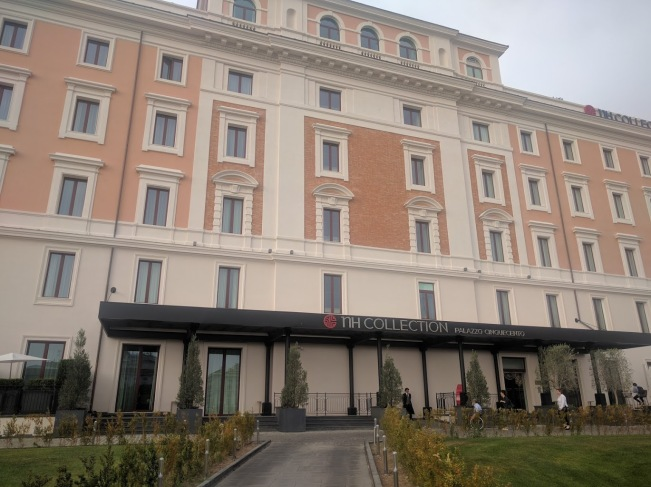 Our hotel, converted palace