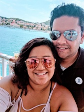 Hubbz and I on the cruise ship, Montenegro